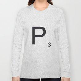 Scrabble P Long Sleeve T-shirt