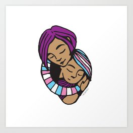 Mama Heart Transgender Pride Art Print