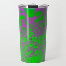 Sugar Pink and Green Travel Mug