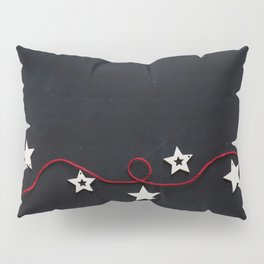 Stars on a Red Rope (Color) Pillow Sham