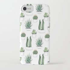 watercolour cacti and succulent Slim Case iPhone 7