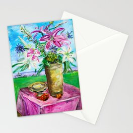 """Lillies"" Stationery Cards"