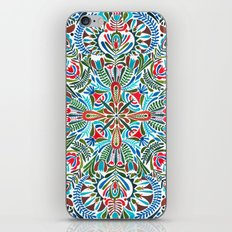 The middle of the Earth mandala iPhone Skin