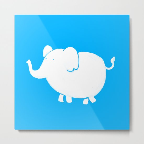 White Elephant  Metal Print