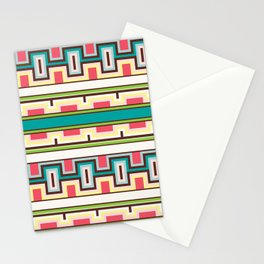 Tribal Aztec Style Block Pattern Stationery Cards