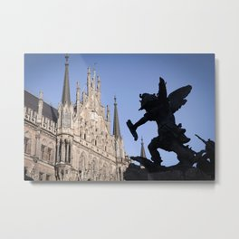 Battle (Marienplatz Detail) Metal Print