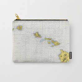 Vintage Map of Hawaii (1974) Carry-All Pouch
