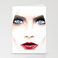 cara Stationery Cards featuring Cara. by Annie Mae Herring