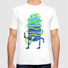 Mr Tubeface White MEDIUM Mens Fitted Tee