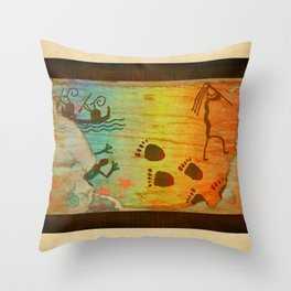 Cave Dwelling Native American Throw Pillow