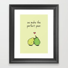 Perfect Pear Framed Art Print