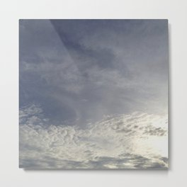 with clouds the sun sets Metal Print
