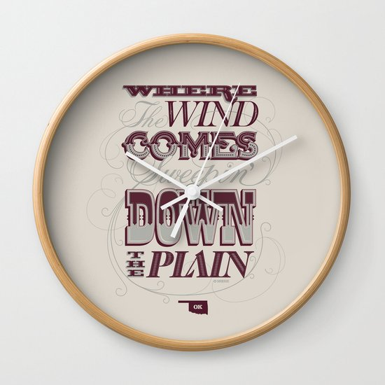 Sweepin' Down The Plain Wall Clock