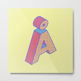 Typography series #Å Metal Print