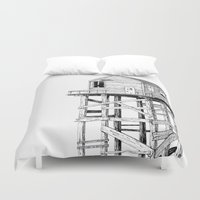 cabin Duvet Covers featuring cabin fever by PAFF