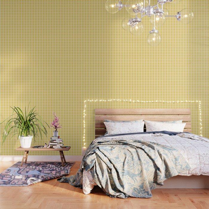 Spring 2017 Designer Color Primrose Yellow Tartan Plaid Check Wallpaper