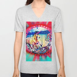 Unicorn And The Sea Unisex V-Neck