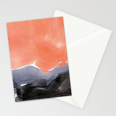 orange blue graphite Stationery Cards