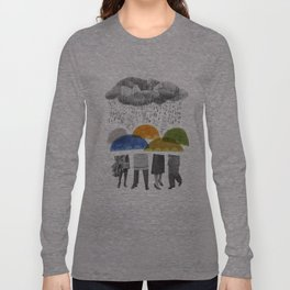cloudy days for uppercase mag Long Sleeve T-shirt