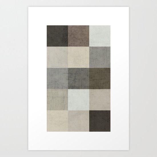 color block - gray Art Print