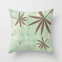 1d Throw Pillows featuring Leaves 1D by Patterns of Life