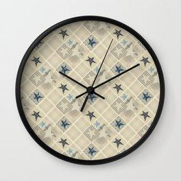 Gray beige patchwork Wall Clock