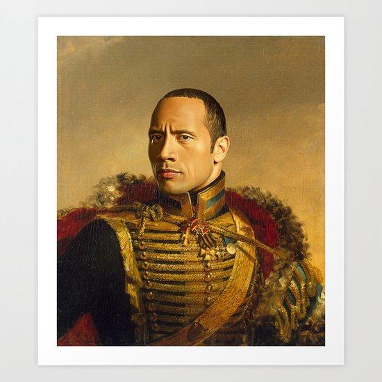 Dwayne (The Rock) Johnson - replaceface Art Print