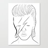 bowie Canvas Prints featuring Bowie by Luster