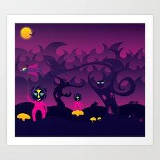 Night of the forest spirit Art Print