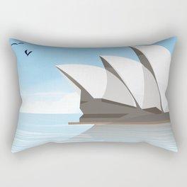 Sydney Australia Travel poster Rectangular Pillow