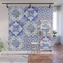 Azulejo VIII - Portuguese hand painted tiles Wall Mural