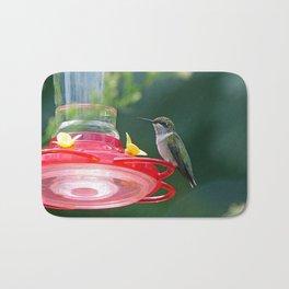 Perched Hummingbird Bath Mat