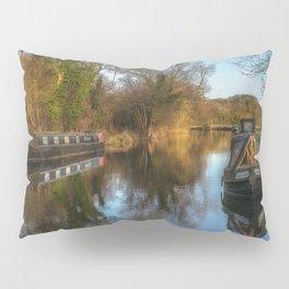 Narrow Boats At Woolhampton Pillow Sham