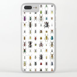 Beetlemania / Get your entomology on! Clear iPhone Case