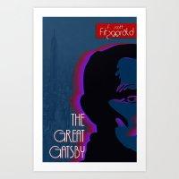 great gatsby Art Prints featuring Great Gatsby by Ryan W. Bradley