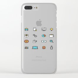 The Future Is Bitcoin Clear iPhone Case