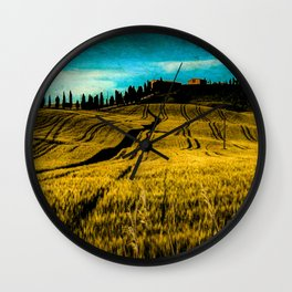 A day in Tuscany Wall Clock