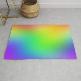Bright Colorful Rainbow Ombre Design! Rug