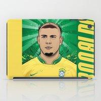 ronaldo iPad Cases featuring Football Legends: Ronaldo R9 Brasil  by Akyanyme
