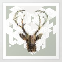 architect Art Prints featuring Deer Architect by Angelo Cerantola