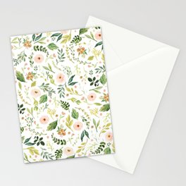 Botanical Spring Flowers Stationery Cards
