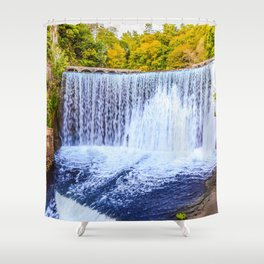 Monk's waterfall Shower Curtain
