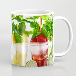 Fruit and berry cocktails with mint in cafe Coffee Mug