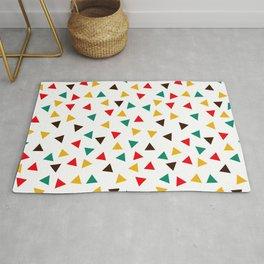 Mid-Century Mod, Mini Colorful Triangles Geometric Pattern Rug