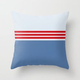 Modern Minimal Striped Blue 09 Throw Pillow