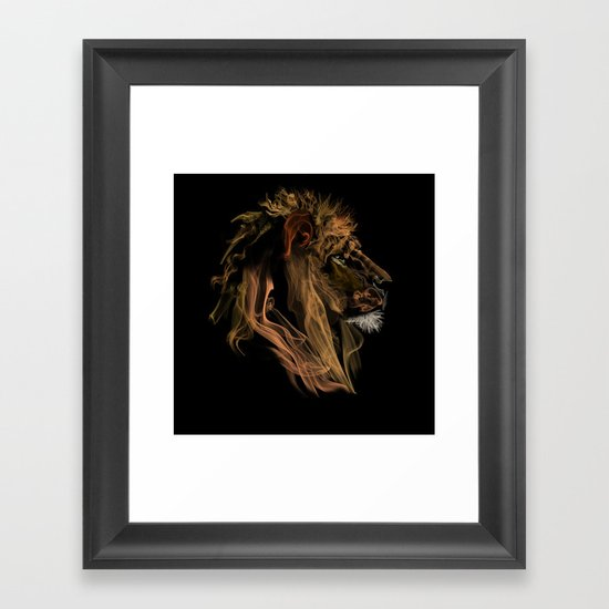Where there's smoke there's fire! Framed Art Print