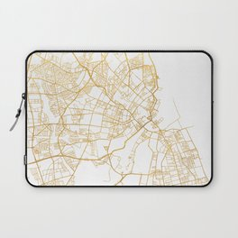 COPENHAGEN DENMARK CITY STREET MAP ART Laptop Sleeve