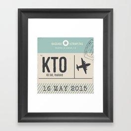 Travel Tag Framed Art Print