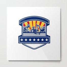 Mulcher Bush Hog and Excavation Services Badge Metal Print