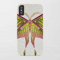 moth iPhone & iPod Cases featuring moth by Manoou